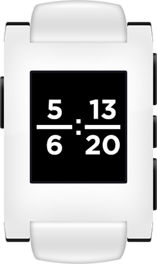 Fraction Clock for Pebble